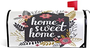 ALAZA Welcome Mailbox Covers Magnetic Standard Size Sweet Home Post Box Cover Mailwrap 20.7 x 18.03 Inch for Garden Yard Decor