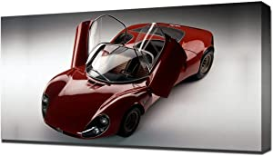 Lilarama USA 1967 Alfa Romeo Tipo 33 Stradale Prototipo V3 - Canvas Art Print - Wall Art - Canvas Wrap