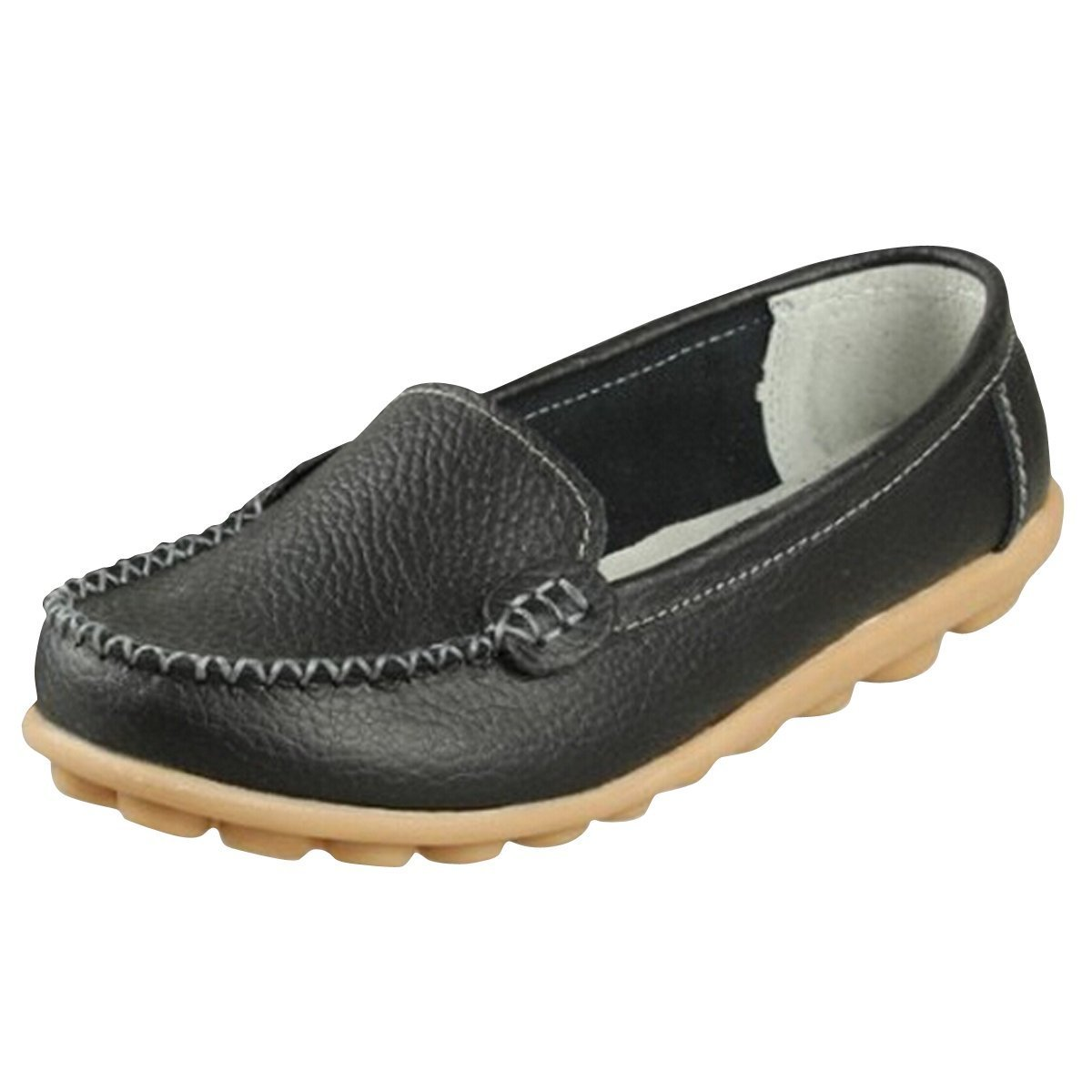 9ad04b28bd1 Minetom Women Comfortable Work Flat Stylish Slip On Moccasins Loafers Flats  Pumps Shoes