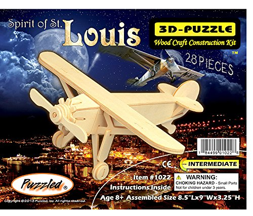 All4LessShop 3-D Wooden Puzzle - Small Plane Model Louis -Affordable Gift for your Little One! Item #DCHI-WPZ-P073