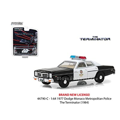 Greenlight 1977 Dodge Monaco Metropolitan Police, The Terminator 44790C - 1/64 Scale Diecast Model Toy Car: Toys & Games