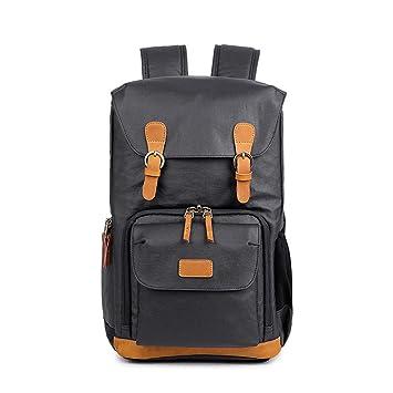 Mochila Hombros fotografía slr paquete digital impermeable lona hombres cámara bolsa interna mochilas para senderismo al aire libre camping trekking caza, ...