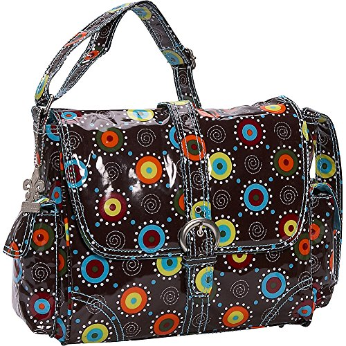 Kalencom Midi Coated Buckle Bag - Blue Doodlebug