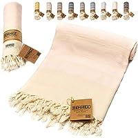 DEMMEX Oeko-TEX Certified 100% Organic Cotton & Organic Dye Prewashed XL Diamond Weave Turkish Towel Peshtemal Blanket…