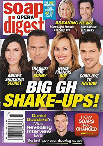 Soap Opera Digest Magazine - February 12, 2018 - Finola Hughes, Maurice Benard, Genie Francis & Ryan Paevey (General Hospital)