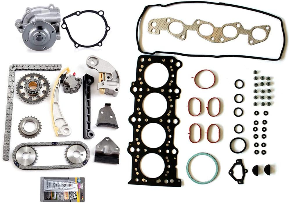 Aintier Automotive Replacement Head Gasket Sets Timing Chain Kit w//Water Pump Fits For-2007-2009 Suzuki SX4 2.0L