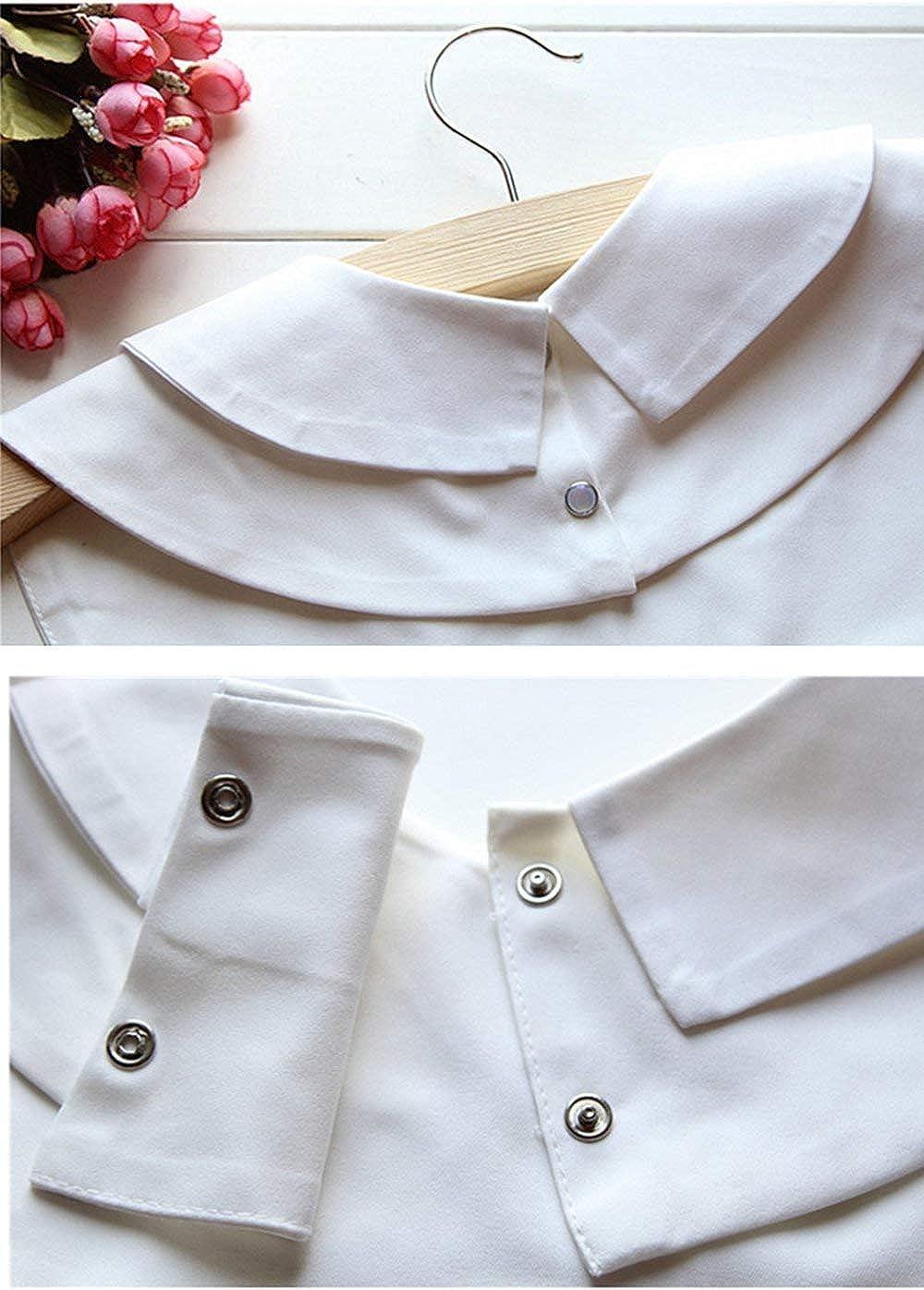 Cuello Falso Desmontable Collar Falso Camisa Mujer Cuello Falso Camisa Blusa Elegante (Blanco): Amazon.es: Ropa y accesorios