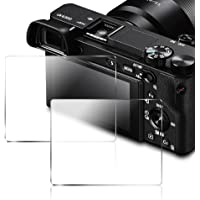 AFUNTA Protector de Pantalla para Sony DSLR Alpha Nex-7 NEX-6 NEX-5 A6000 A6300 A5000 Cámara, Anti-scrach Glass 9H Cover (2 Pack)