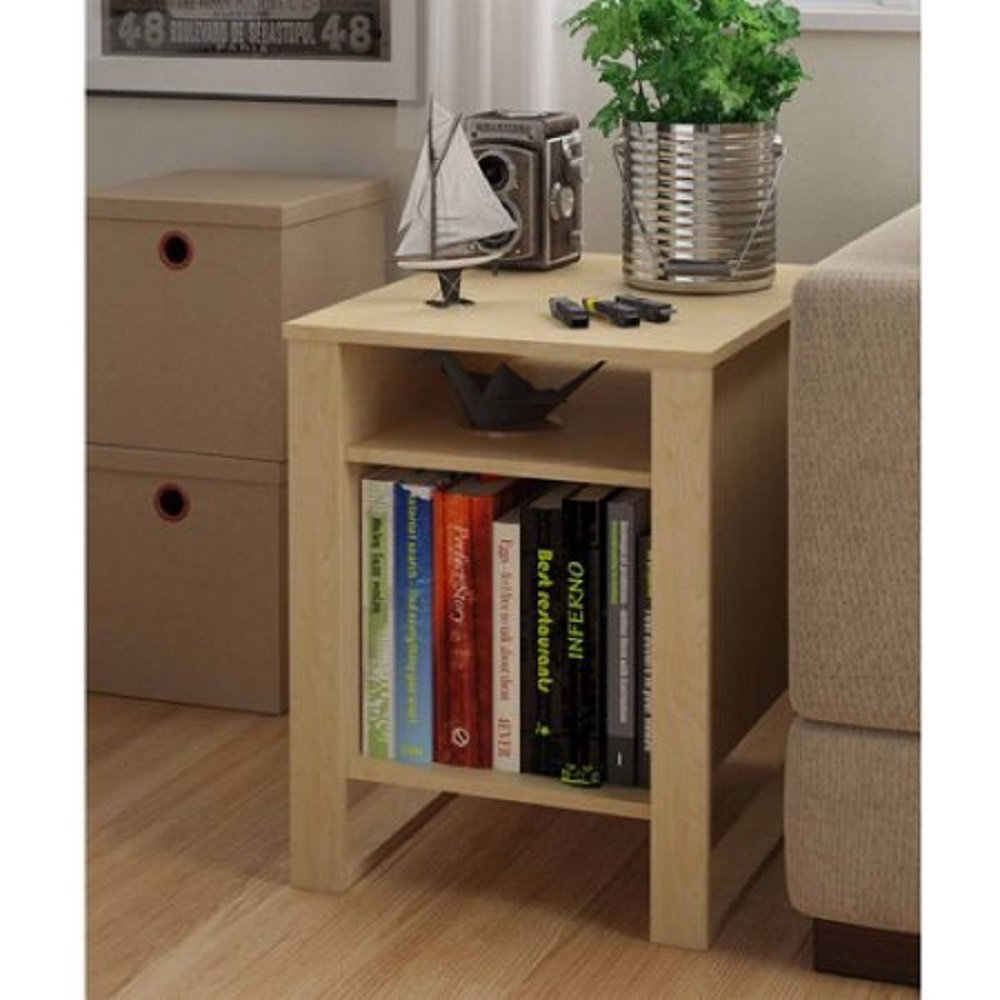 Amazon.com: Side End Table Living Room Home Wood Home Furniture Decor  Coffee 2 Shelves Books Storage Organizer Light. Comes In Sycamore Maple  Assembly ...