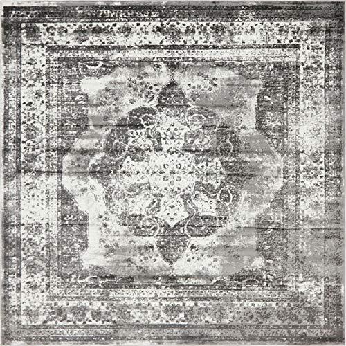 Unique Loom 3141298 Area Rug, 8' x 8' Square, Gray (Rug Square Gray)