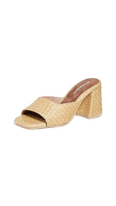 f541297fb25 Amazon.com | Jeffrey Campbell Women's Melange 2 Block Heel Slides ...