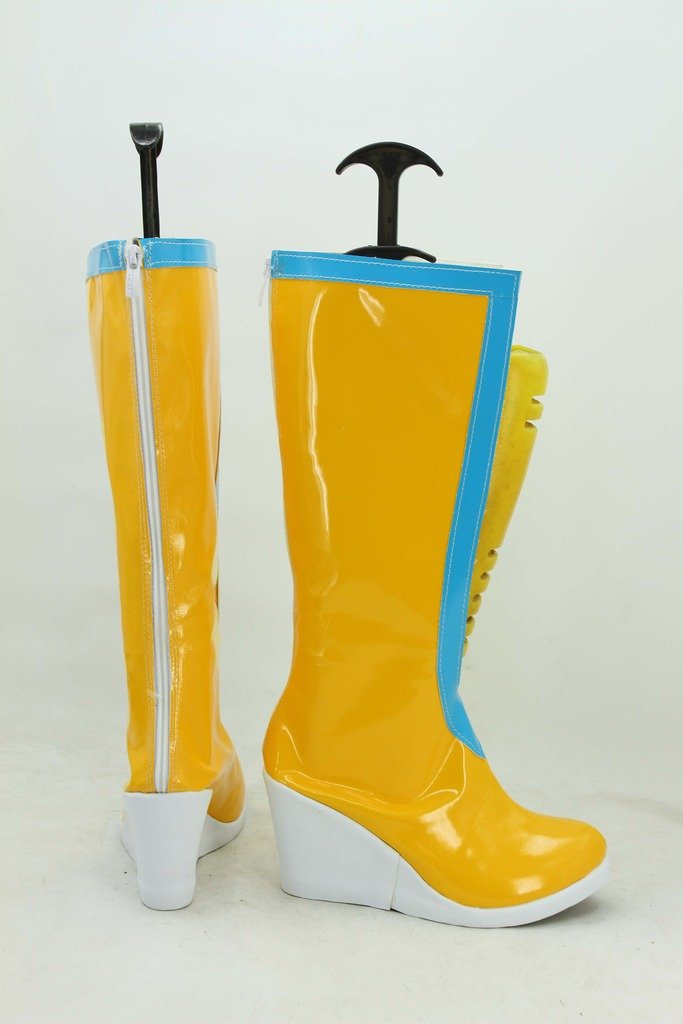 Amazon.com: Telacos JoJos Bizarre Adventure 6 Anime Jolyne Kujo Cosplay Shoes Yellow Boots Custom Made: Sports & Outdoors