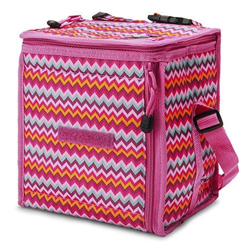 pacific-breeze-foldable-lunch-box-xl-pink-zigzag