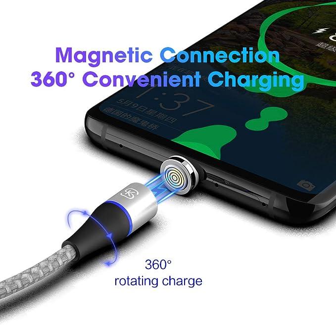 Amazon.com: Cable magnético USB C SIKAI 5A Huawei ...