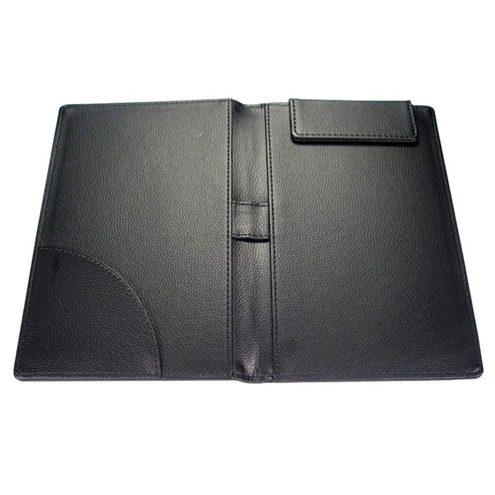 12.5cm Scheda File di Firma con Clip Magnetica e Scrittoio e Blotter Pad per Uso Ufficio TAMUME Portadocumenti in Pelle Titolare della Fattura Nero 23