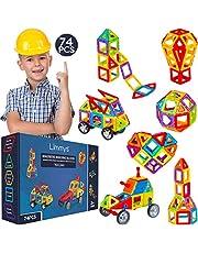Limmys Magnetische Bouwblokken - Unieke Travel Series Bouw Speelgoed voor Jongens en Meisjes - STEM Educatief Speelgoed is een Perfect cadeau - Inclusief 74 Stukken en een Ideeënboek