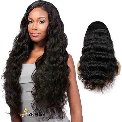 Amazon.com: ybhair Lace Front wigs- Cabello humano Virgen ...