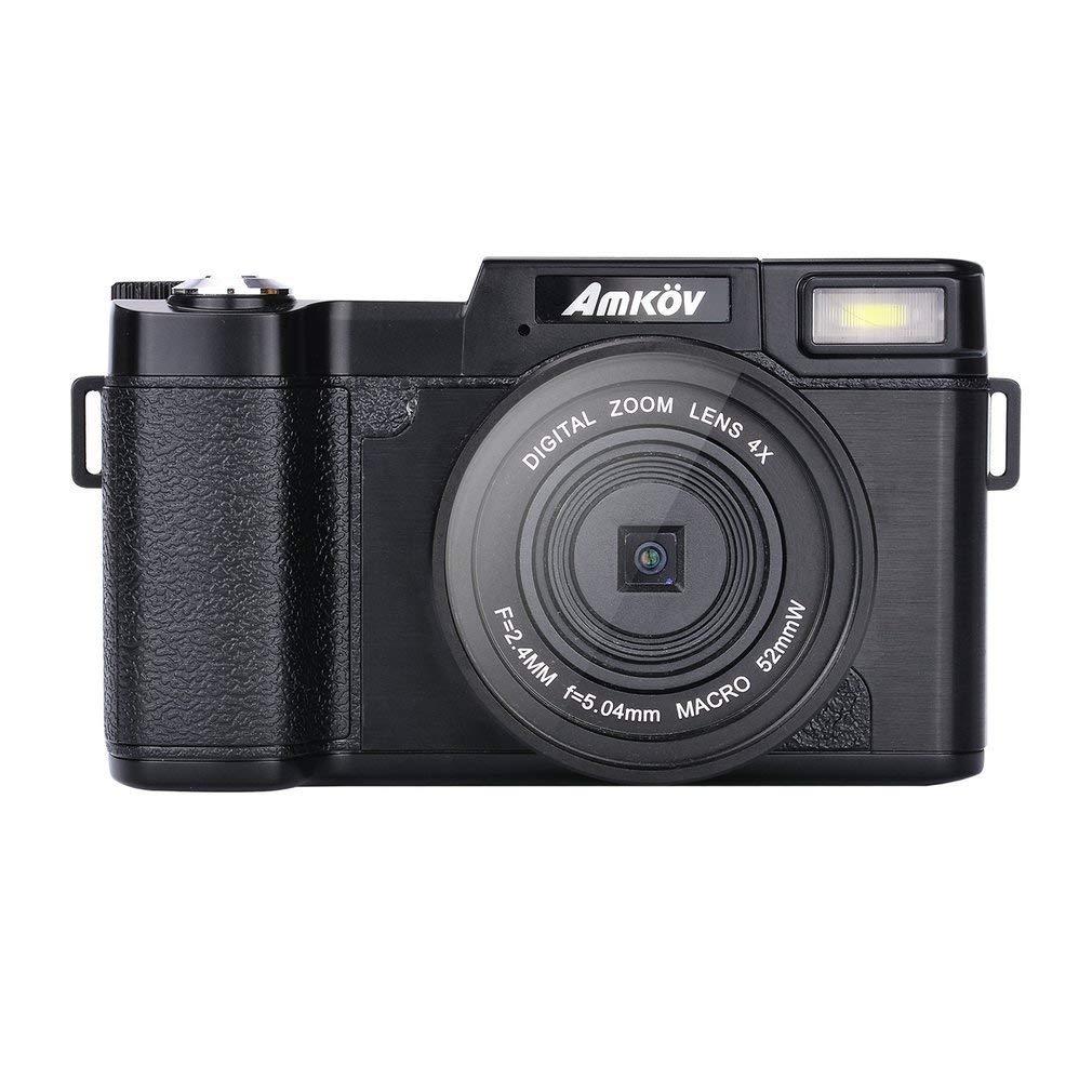 CDR2 24MP 1080P ミニデジタルカメラ 4倍デジタルズーム & 3インチTFTディスプレイ (カラー:ブラック)   B07JQ99WLW