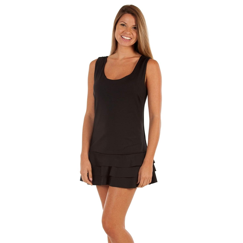 bluee Sky Swimwear Classic Collection Lauren Tiered Dress in Black (Size XS) Black