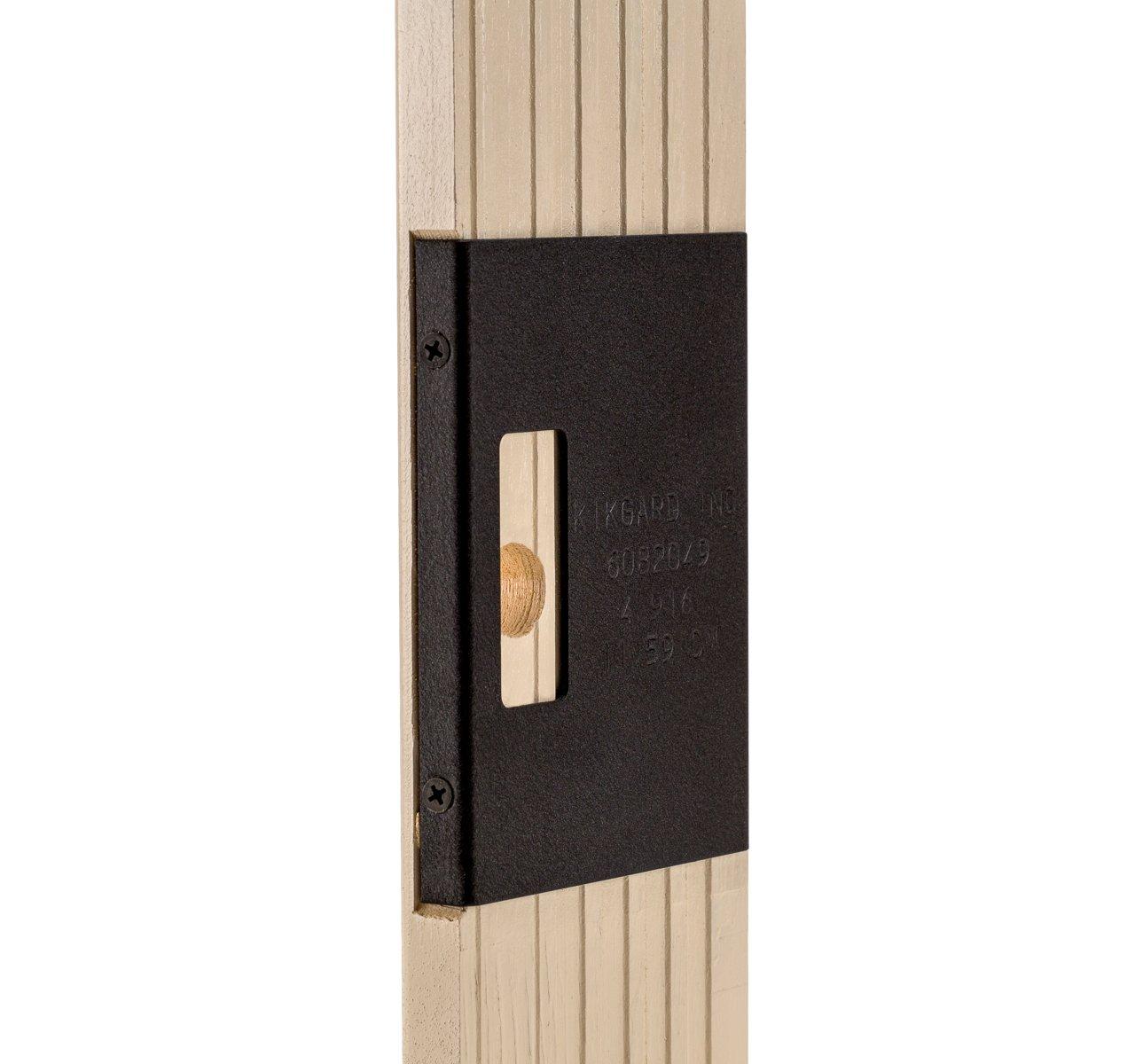 Kikgard Door Guard & Door Jamb Reinforcement Device 4 3/8 Invisible