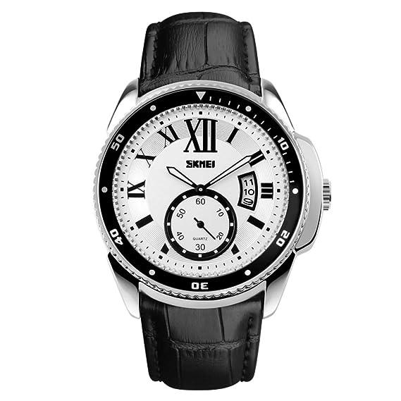 Reloj de cuarzo de los hombres de negocios/Relojes clásicos de las tendencias de personalidad-B: Amazon.es: Relojes