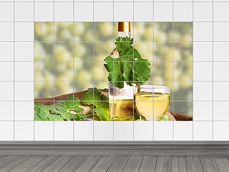 Piastrelle adesivo piastrelle immagini calice da vino bottiglia e