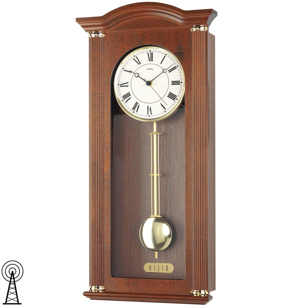 AMS Uhrenfabrik F5014-1 Cherry-Finish Uhr - Silber