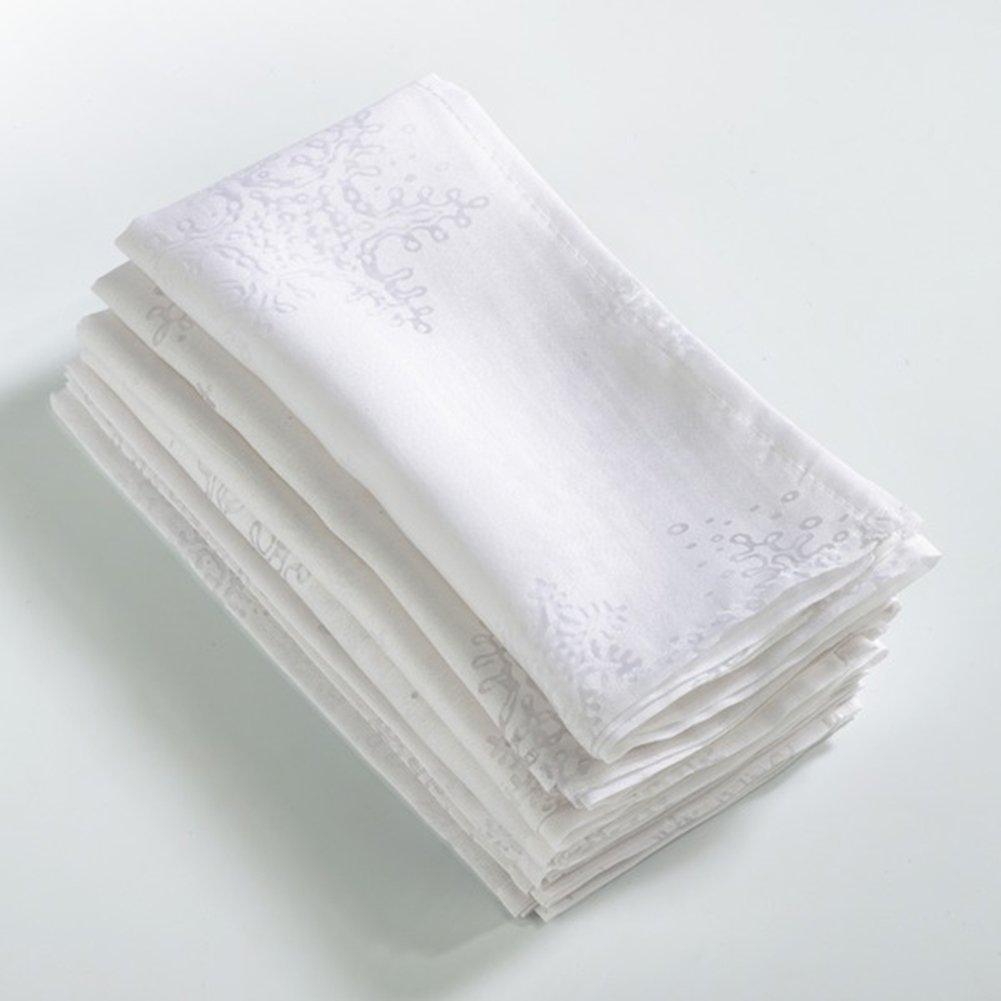 White Burnout Snowflake Design Napkin - Set of 4