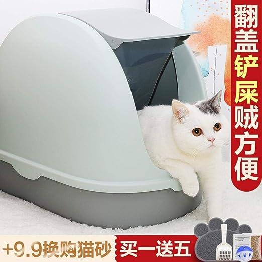 Amazon.com: Arenero para gatos, lavabo con número totalmente ...