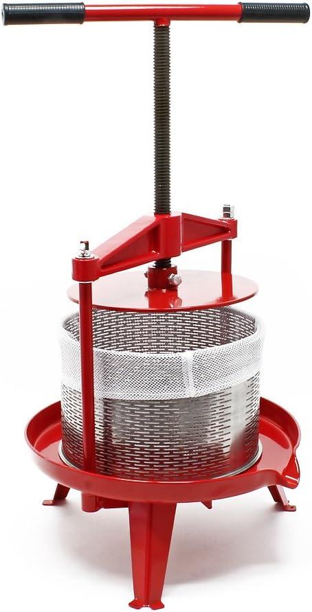 Prensa de fruta de acero inoxidable Capacidad de 14 litros Prensa ...