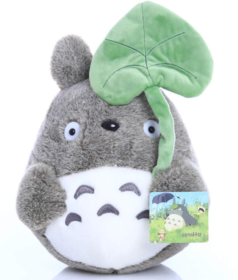 SHDZKJ My Neighbor Totoro Plush Doll Plush Animal Toy Throw Pillow Decorative Holiday Birthday Kid Girlfriend Gift (Lotus Leaf, 20cm/7.8'')