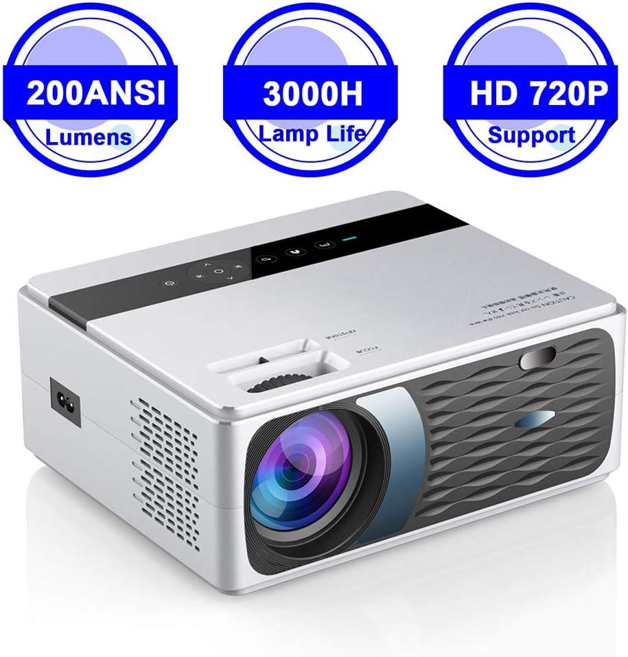LQQZZZ Proyector Casero, Full HD 1080P Proyector 4K 8000 Lúmenes ...