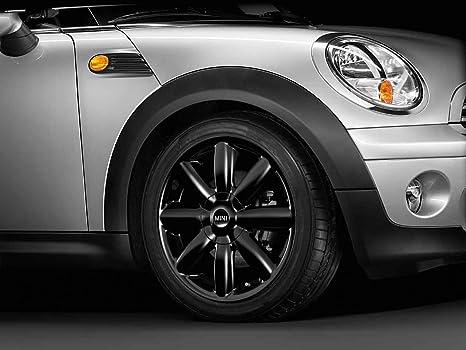 Mini - Embellecedor para ruedas de Mini de aleación de color negro, radios