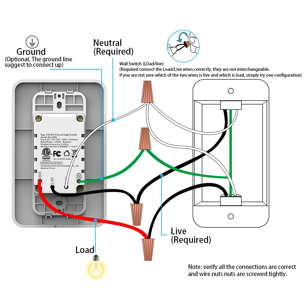 Smart Wifi Light Switch - with Timer and Push Button, APP Multi ...