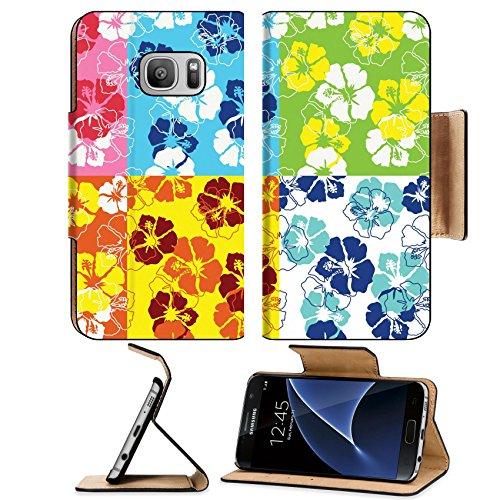 Surf Rug Longboard (Liili Premium Samsung Galaxy S7 Flip Pu Leather Wallet Case seamless fancy flouirsh background Photo 4452053 Simple Snap Carrying)
