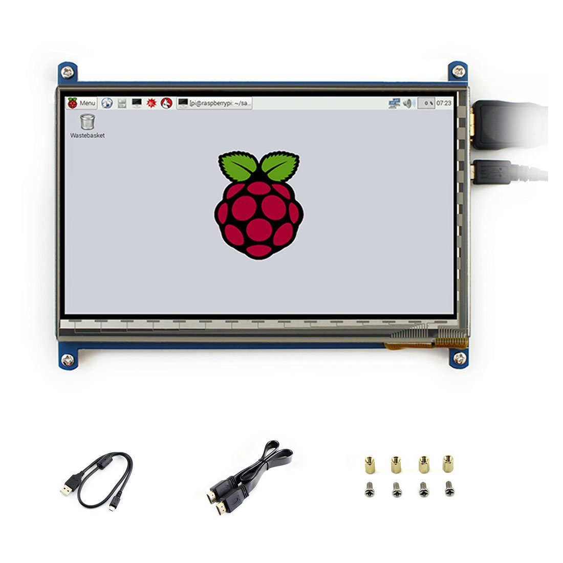 5 inch LCD B Rev2.1 Touch Resistive Screen Windows 10 HDMI interface 800*480 Supports Various Systems For Raspberry pi3/3B+/2 B/B+/A Waveshare