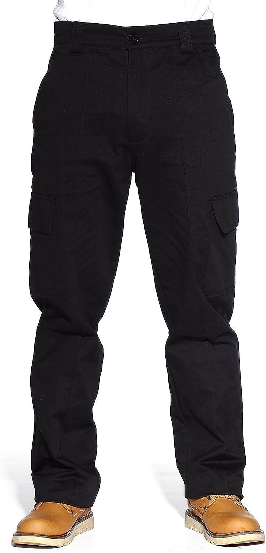 32 Surepromise Pantalones Multibolsillos Cargo de Trabajo para Hombre Color Negro Resistente