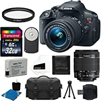 Canon EOS Rebel T5i 18.0 MP CMOS Digital Camera HD Video with EF-S 18-55mm f/3.5-5.6 IS STM Zoom Lens + Deluxe Case + Extra Battery Pack + 2 Filters with 32GB Memory Card Complete Deluxe Accessory Bundle Key Pieces Review Image