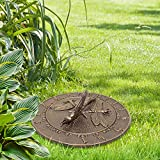 Whitehall Products Dragonfly Sundial, French Bronze
