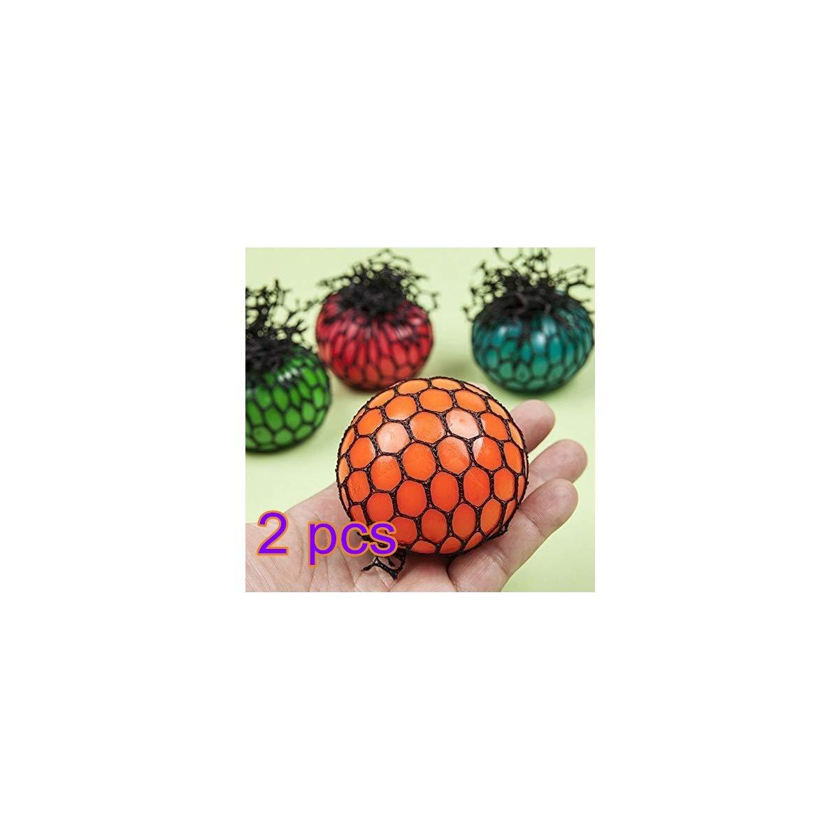 Newin Star 2er Pack Mesh Ball Spielzeug Quetschball Anti-Stress-Bä lle fü r Kinder und Erwachsene