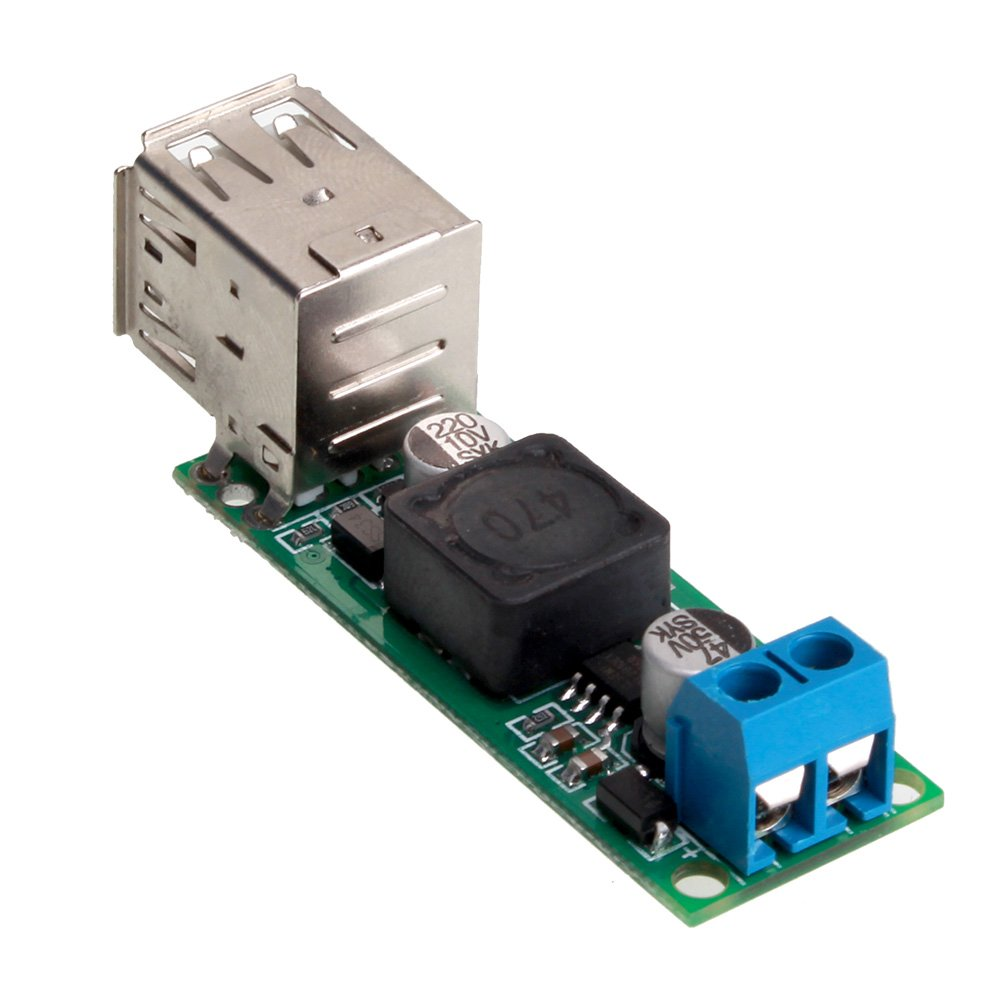 BQLZR Double USB DC-DC Converter Buck Step-down Module Voltage 6-35V to 5V3A Car Charge