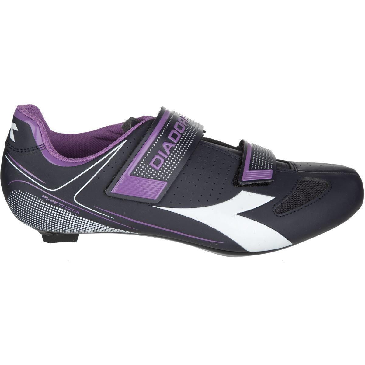 Diadora Phantom II Cycling Shoes - Women's Dk Smoke/White/Violet Orchid Iris, 41.0