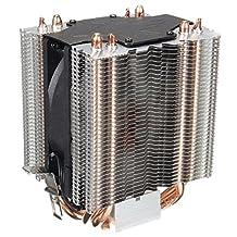 CPU cooler - SODIAL(R) 4 Heatpipe CPU Cooler Heat Sink for Intel LGA 1150 1151 1155 775 1156 AMD New