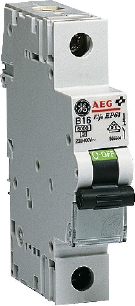 GE Leitungsschutzschalter 1-polig, 20A, B-Charakteristik - GE 230/400V, EP 61 B 20, 566.505