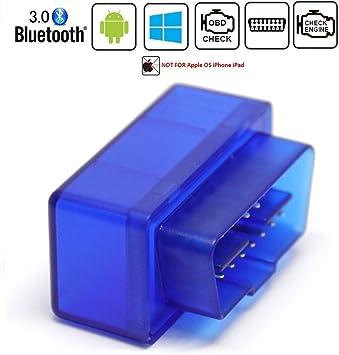 Adattatore per scanner OBD2 per auto Bluetooth di Friencity strumento di scansione diagnostico per lettore di codici veicolo motore Controllare la luce del motore,compatibile con Android,NON per IOS