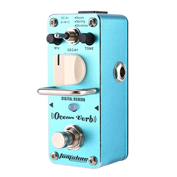 Amazon.com: Aroma AOV-3 Ocean Verb Digital Reverb Electric Guitar Effect Pedal Guitar Equalizer True Bypass Single Guitar Accessories: Musical Instruments