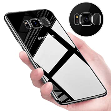 Funda Samsung Galaxy S8, Tronisky Galaxy S8 Carcasa Funda protectora Flexible TPU Transparente Carcasa Case Antideslizante Rasguño Resistente Delgado ...