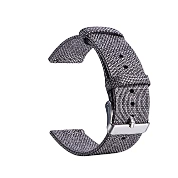 20mm Correa De Reloj Universal Nylon Lienzo Reemplazo ...