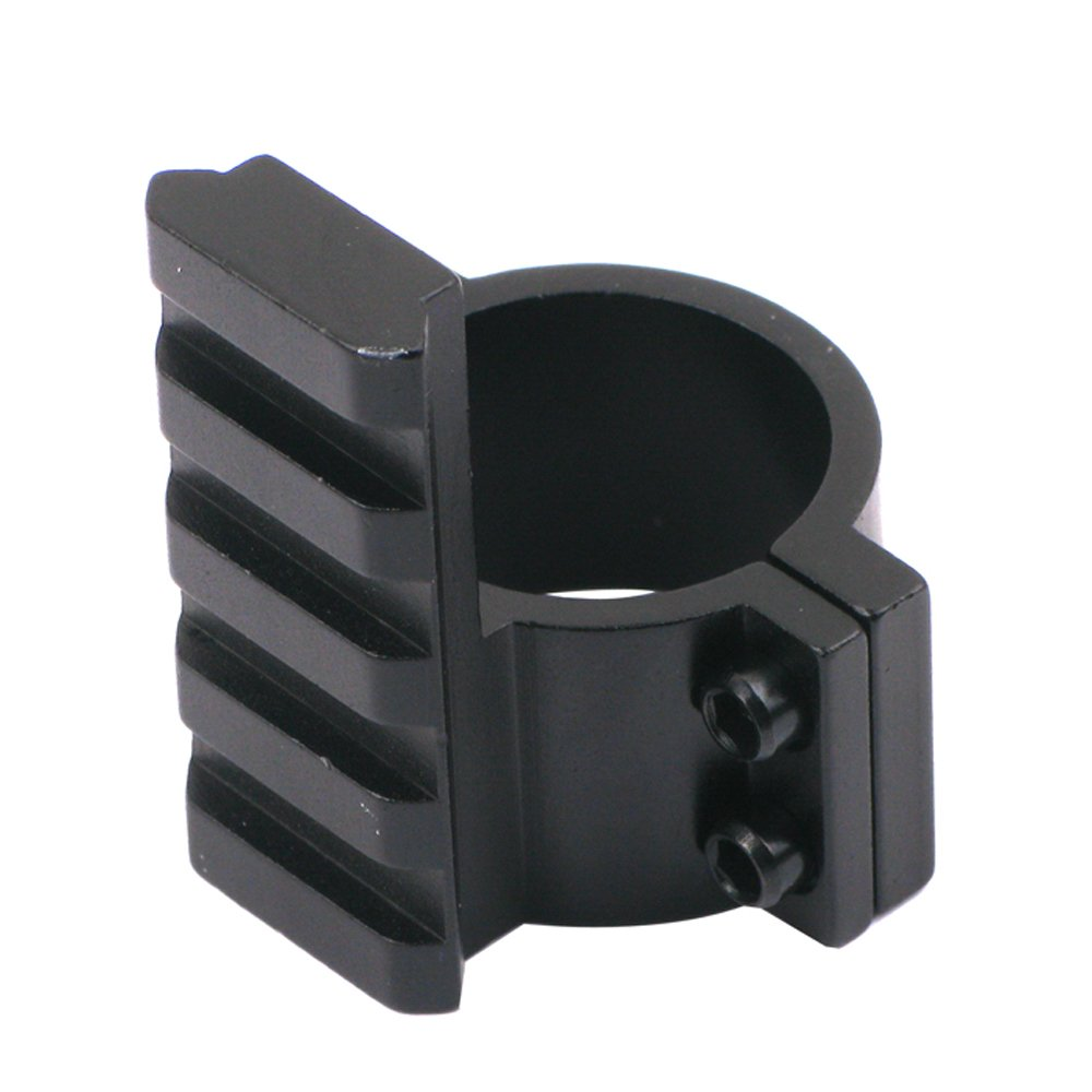 Calitte Scope Adapter Ring 25mm with Rail for Scope Flashlight Laser Sight