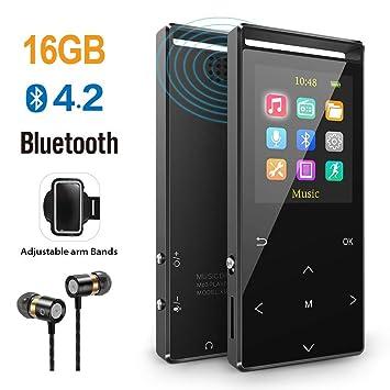 Reproductor de música MP3 Bluetooth 4.2 Calidad 16 GB MP3 con ...